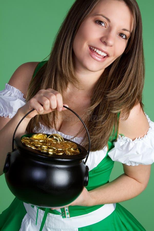 Download St Patricks Day Woman Stock Image - Image: 12849881