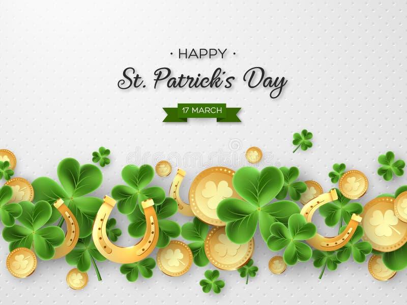 St Patricks de vakantieontwerp van de Daggroet stock illustratie