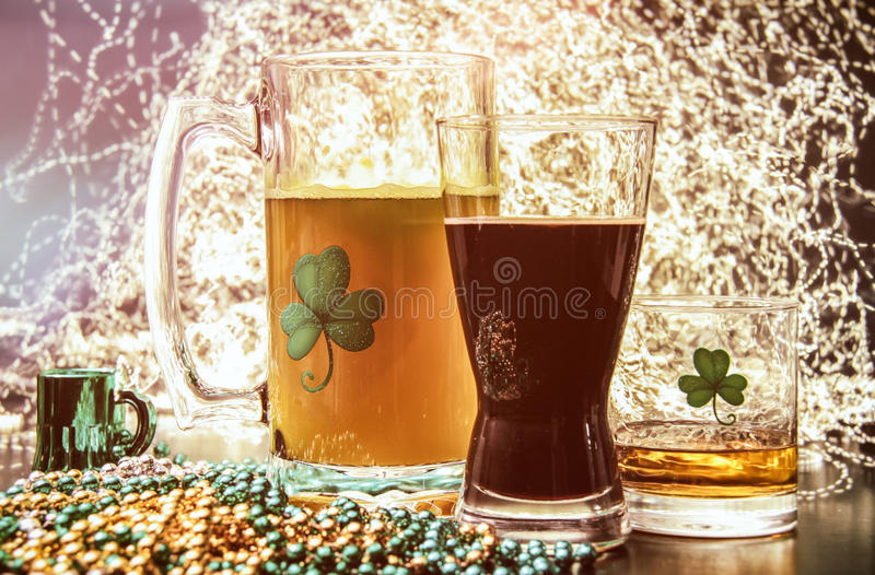 St Patricks dnia pubu alkohol fotografia stock