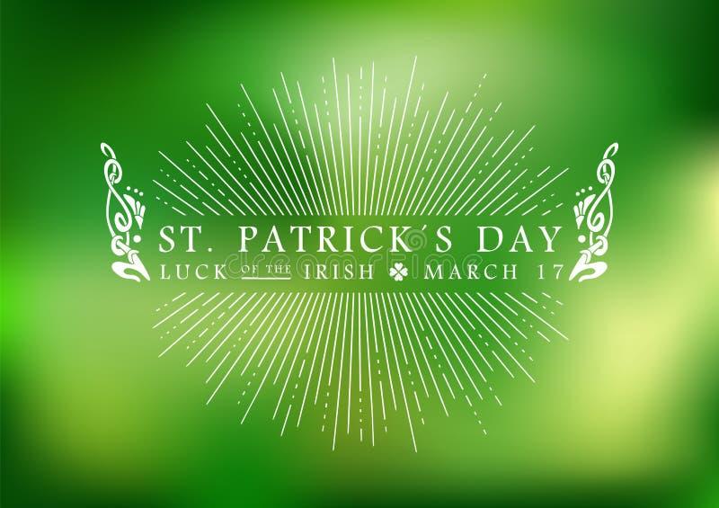 St Patricks dnia rocznika etykietki tło ilustracja wektor