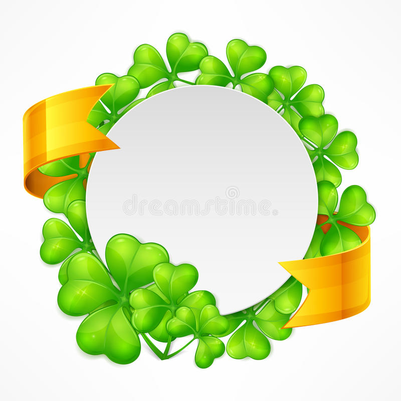St Patricks dnia round tamplate royalty ilustracja