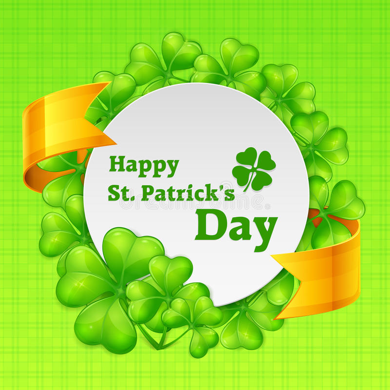 St Patricks dnia round tamplate ilustracji