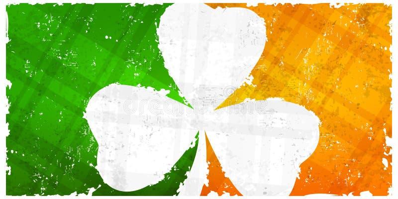St Patricks dnia wzór z shamrock na chorągwianym tle również zwrócić corel ilustracji wektora ilustracja wektor