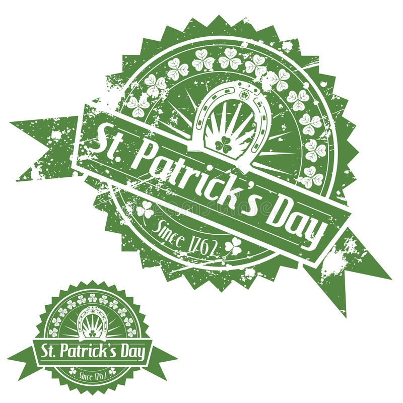 St. Patricks dnia znaczki ilustracji