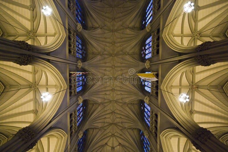St'Patricks Geometries. Indoor of St'Patricks church playing with geometries - New York 2007 stock photos