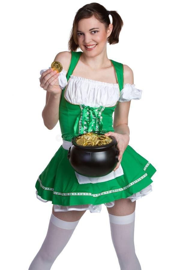 St Patricks Girl royalty free stock images