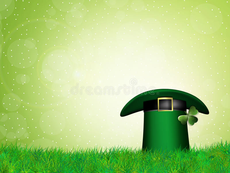 St Patricks hoed royalty-vrije illustratie