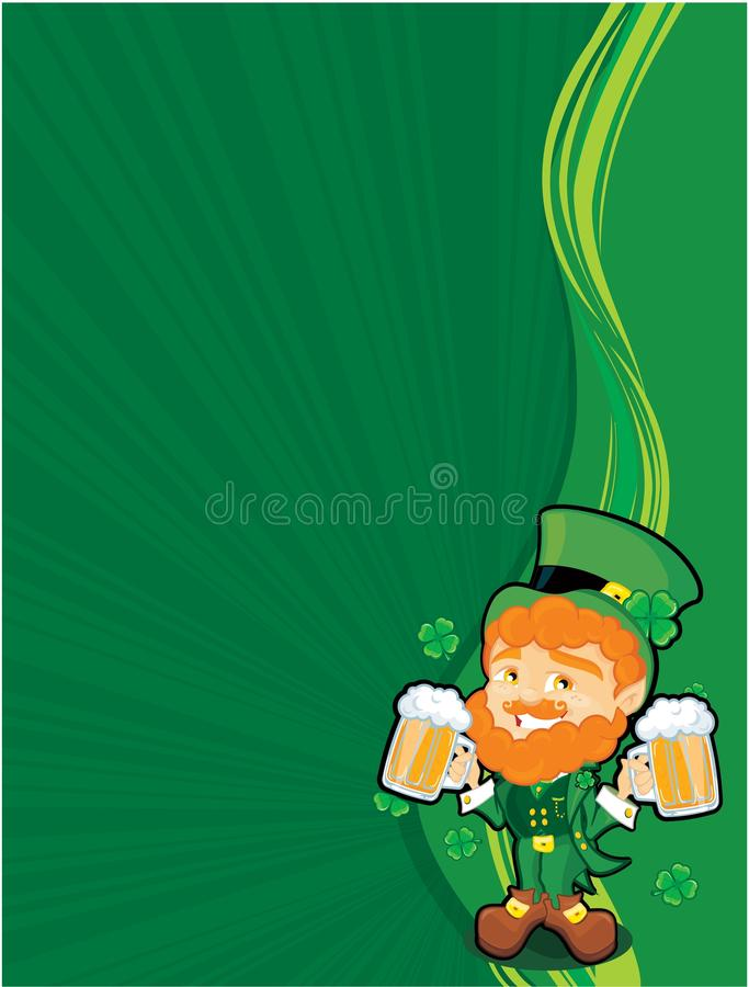 St. Patricks hoek vector illustratie