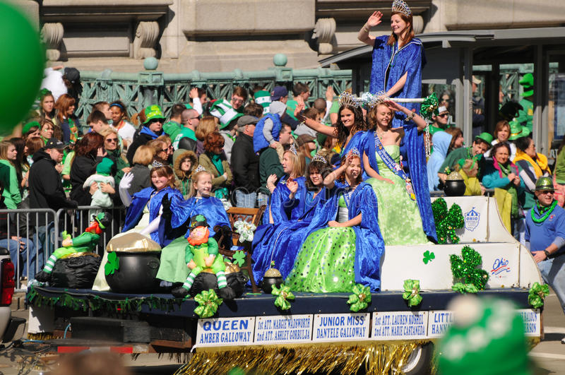 St Patricks parade queen stock photography