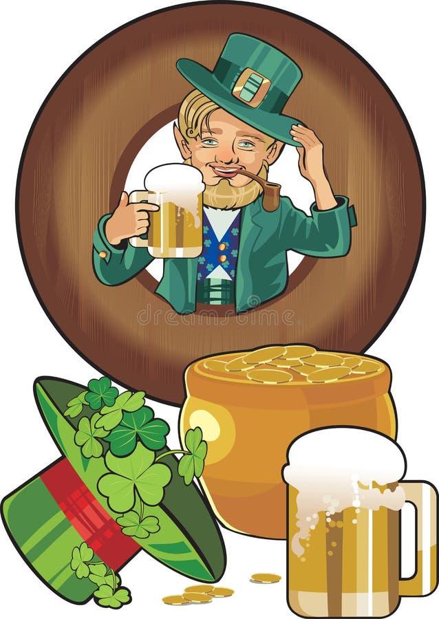 St.Patricks Tag stock abbildung