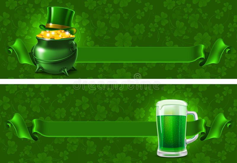 St.Patricks-Tageshintergrund lizenzfreie abbildung