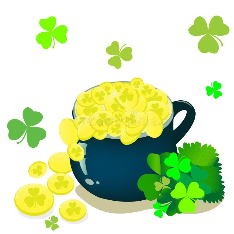 St- Patricktageshintergrund stockbild
