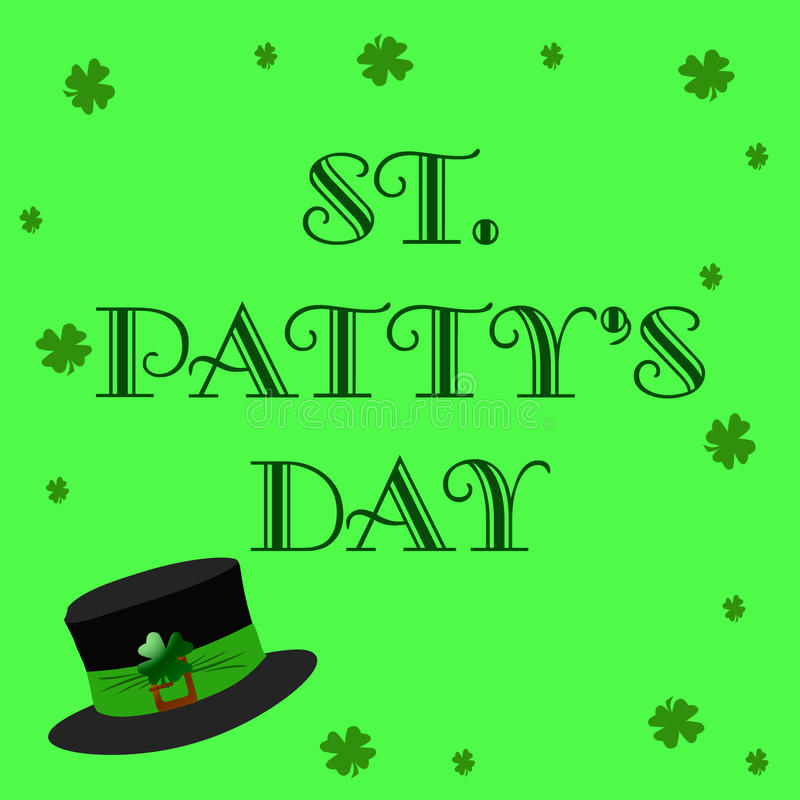 St Patty's Day sign stock illustration