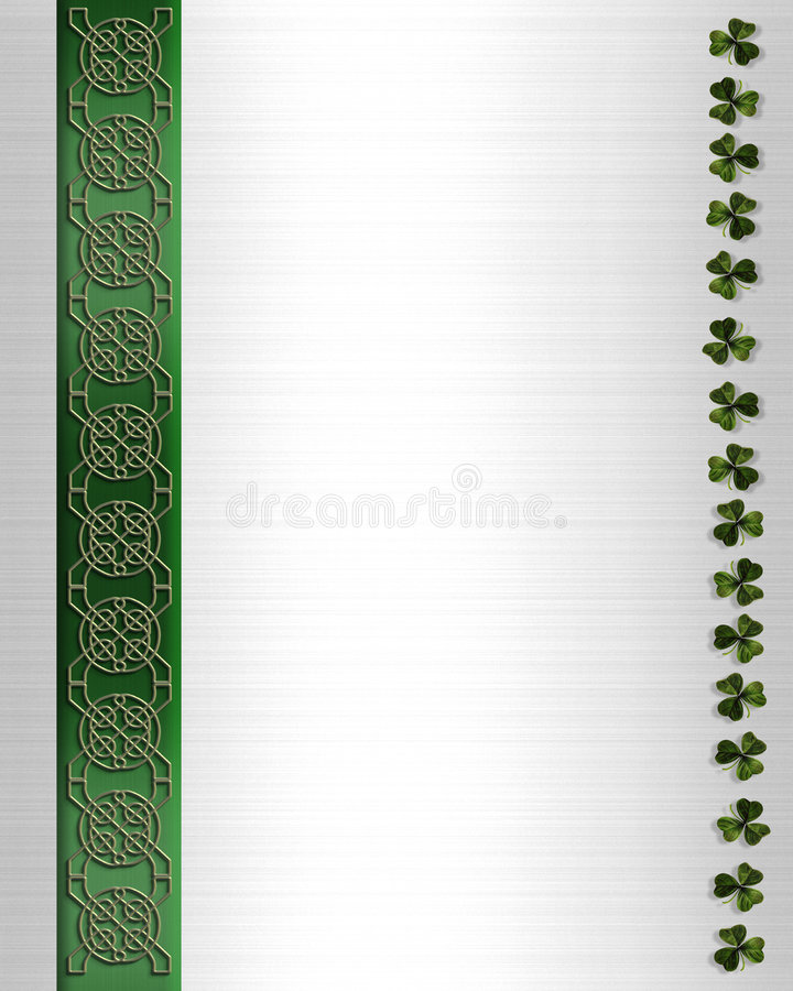 St Pattys Day Border Celtic Knot vector illustration