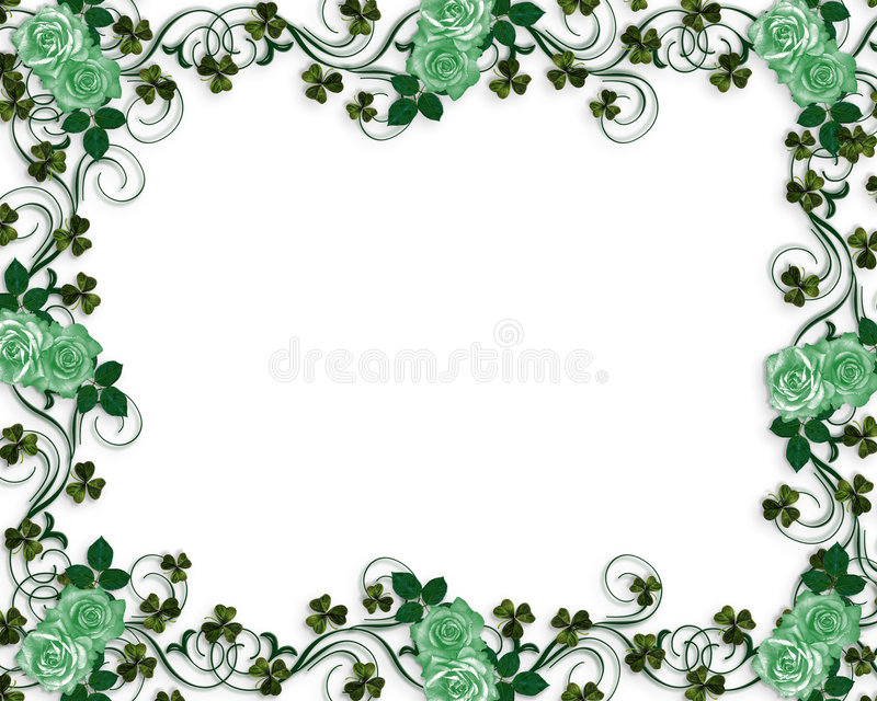 Download Irish roses wedding border stock illustration. Image of irish - 7293110