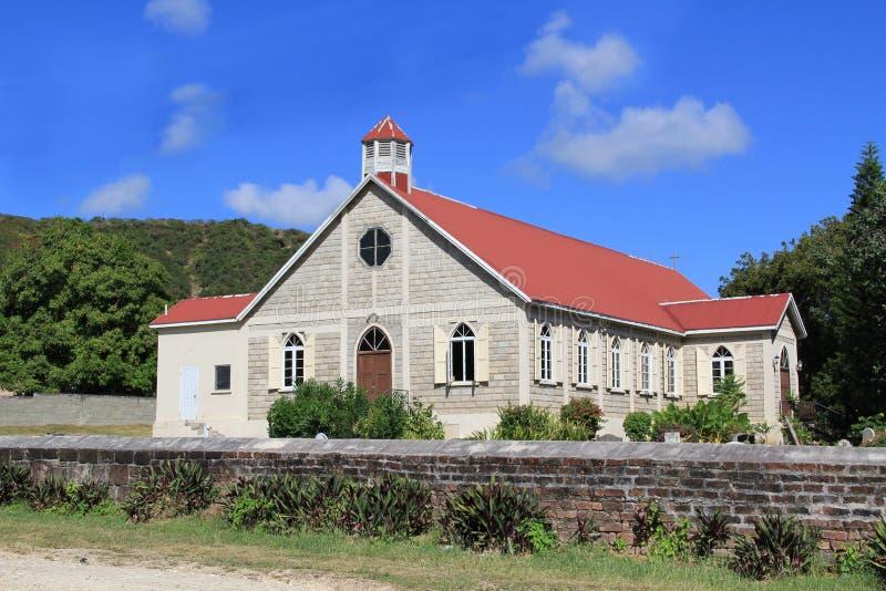 St. Paulâs英国国教的教堂在安提瓜岛 库存照片