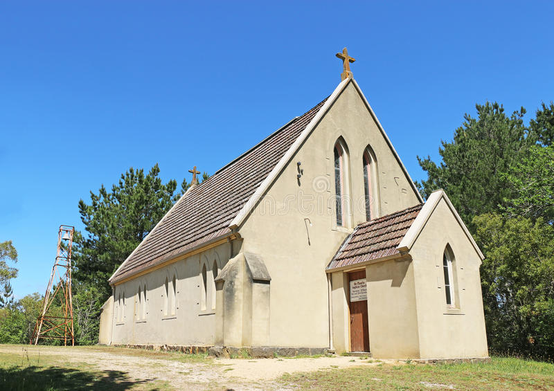 St Paul anglikanische Kirche (1862) errichtet in der frühen englischen gotischen Wiederbelebungsart, ist Lintons älteste Überlebe lizenzfreies stockbild