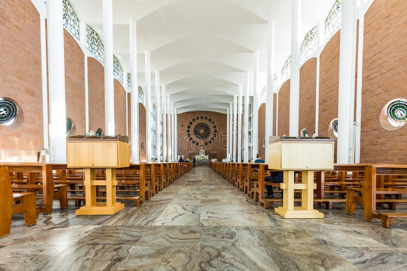 St Paul Apostle Cathedral, Blumenau imagem de stock