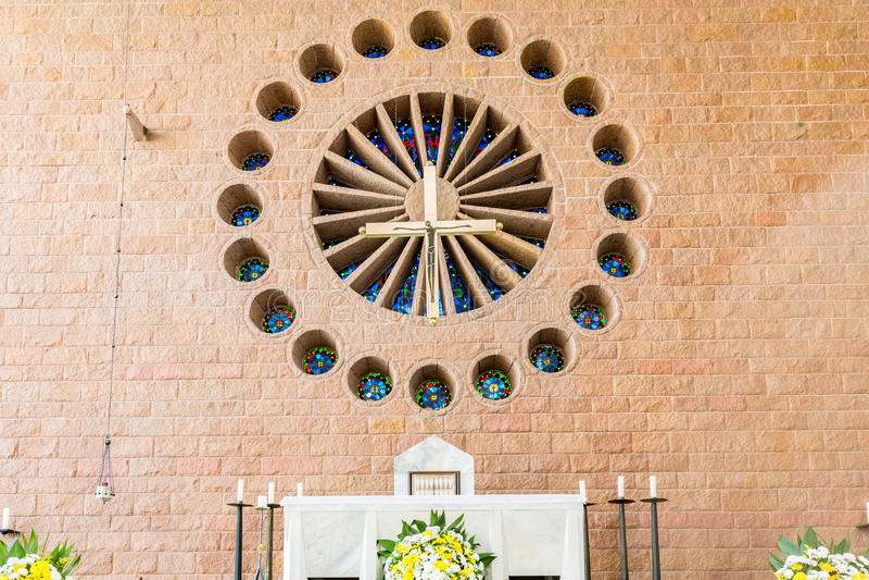 St Paul Apostle Cathedral, Blumenau royaltyfri fotografi