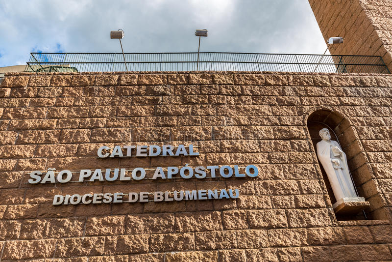 St Paul Apostle Cathedral, Blumenau imagem de stock royalty free