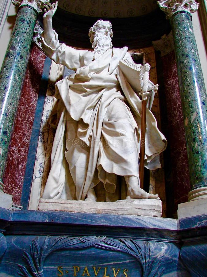 St Paul, ArchBasilica de St John Lateran, Roma, Itália fotos de stock royalty free