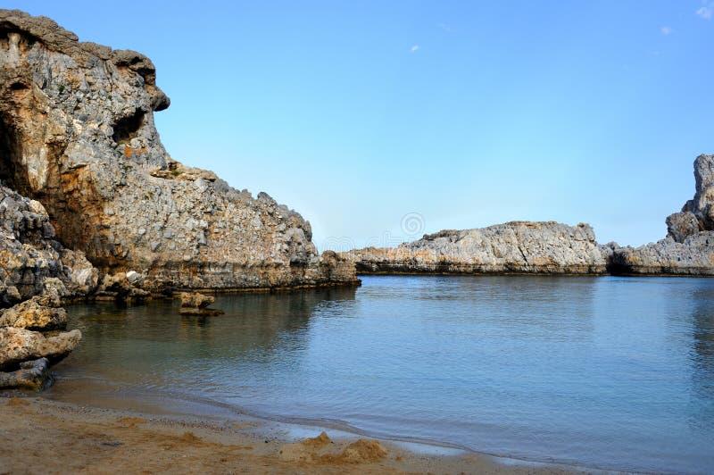 St Paul Bay, Rhodes, Greece royalty free stock photo