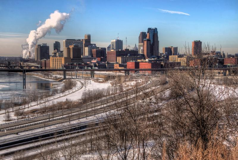 St. Paul is the Capitol of, and Major City in, the State of Minn stock photography