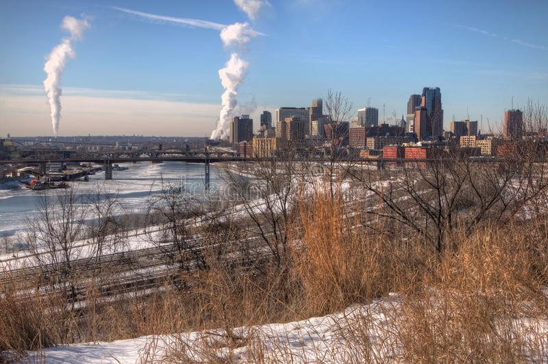 St. Paul is the Capitol of, and Major City in, the State of Minn royalty free stock images