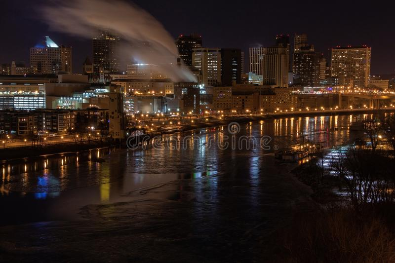 St. Paul is the Capitol of, and Major City in, the State of Minn royalty free stock image