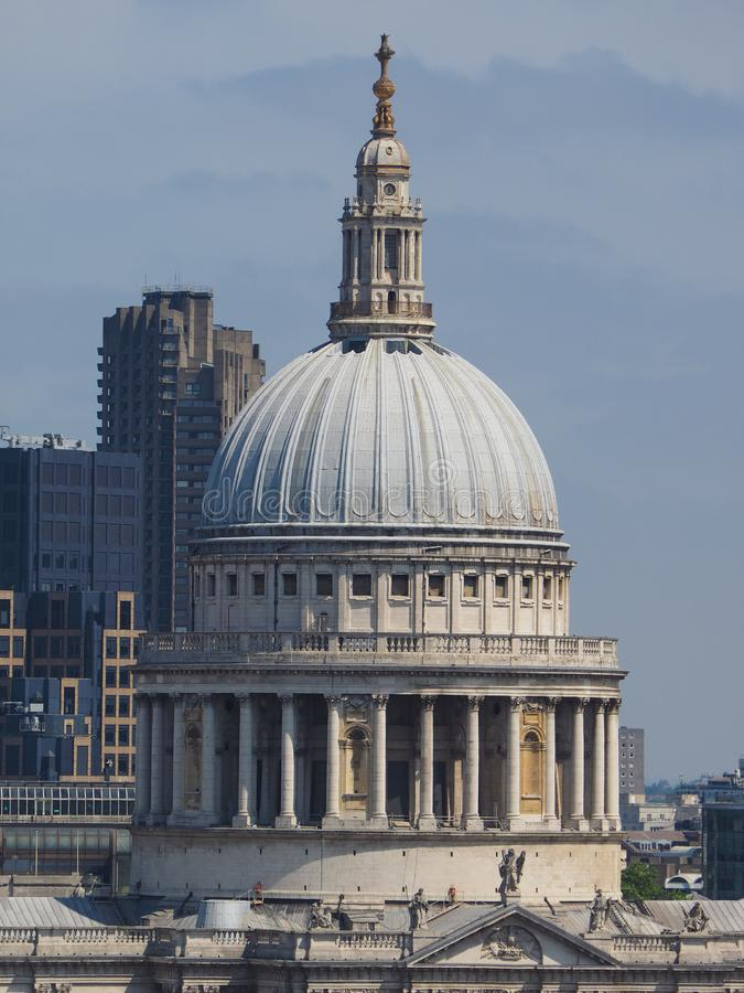 St Paul Cathedral à Londres photographie stock libre de droits