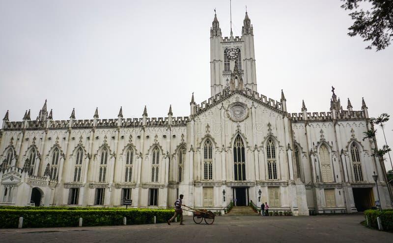 St Paul Cathedral em Kolkata, Índia fotos de stock royalty free
