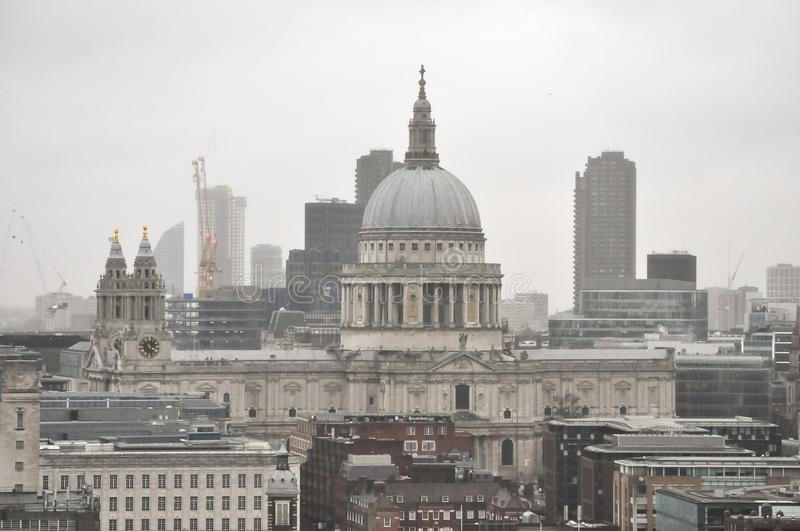 St Paul Cathedral en Londres imagen de archivo libre de regalías