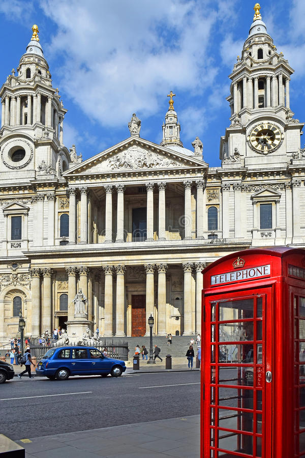 St Paul Cathedral in Londen stock afbeelding
