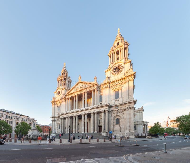 St Paul Cathedral, Londen, het UK stock afbeelding