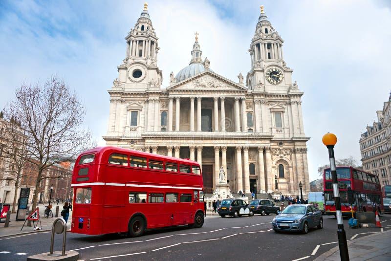 St Paul Cathedral, Londen, het UK. stock afbeelding