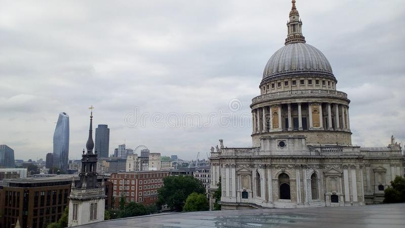 St Paul Cathedral in Londen royalty-vrije stock afbeelding