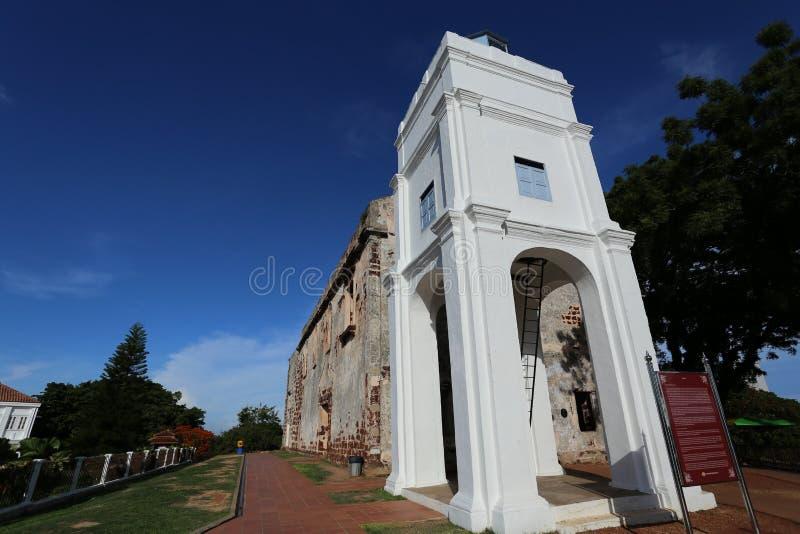 St. Paul Church in Melaka, Maleisië stock foto