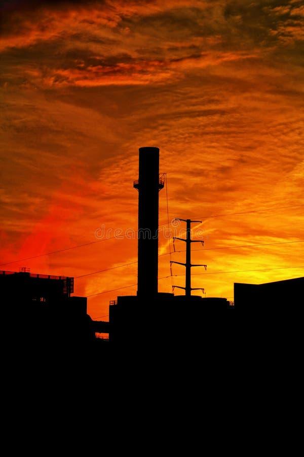 St Paul, de Zonsondergang van de de Stadshorizon van Minnesota stock foto