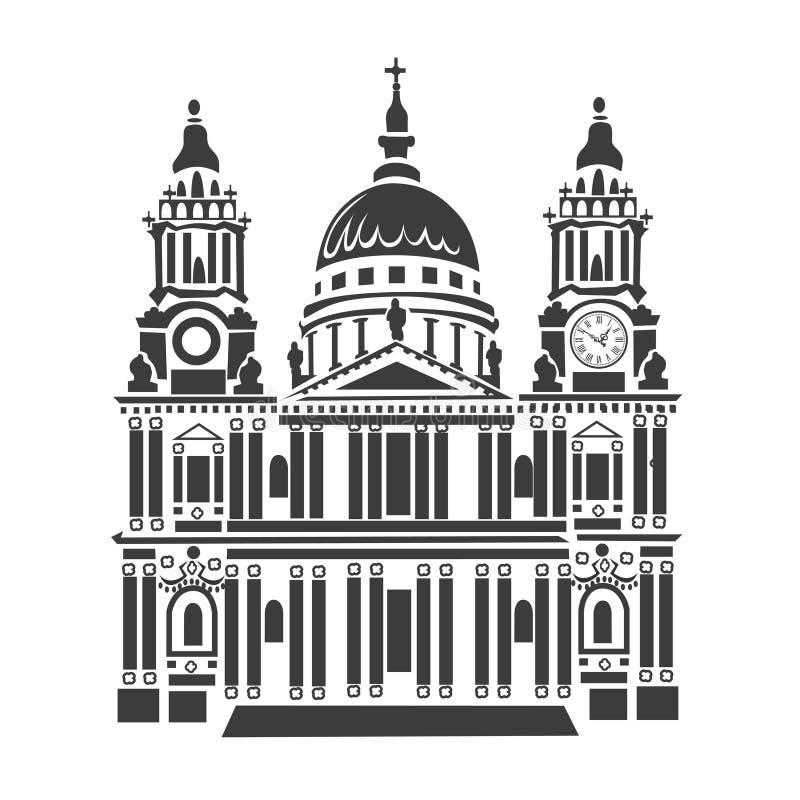 St Paul domkyrka i London stock illustrationer