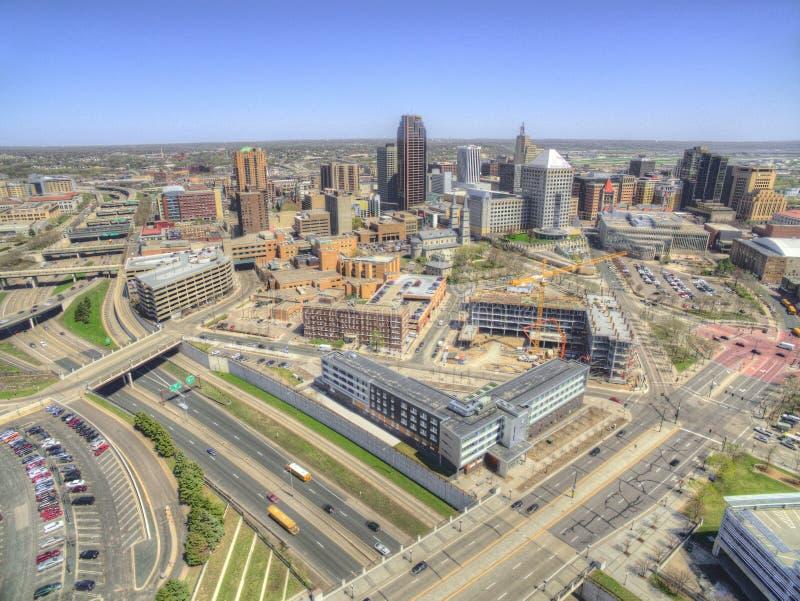 St Paul is het Capitool van de Staat van Minnesota van door Hommel hierboven wordt gezien die stock fotografie