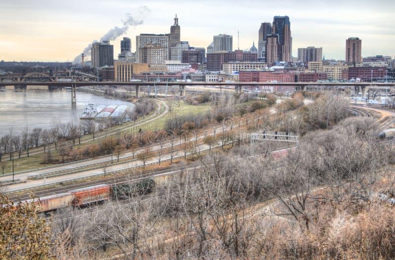 St Paul is het Kapitaal van Minnesota stock fotografie