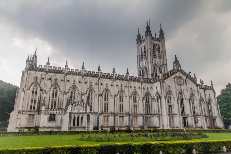St Paul katedra w Kolkata Calcutta, Ind obraz stock