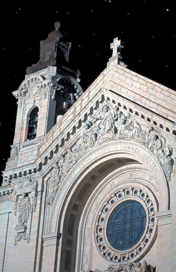 St Paul Kathedraal bij Nacht royalty-vrije stock afbeelding