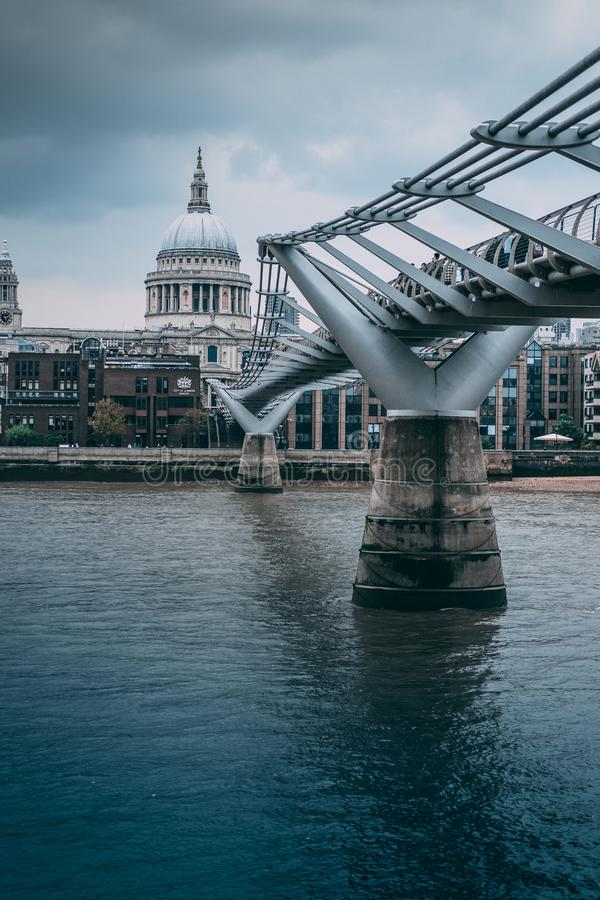 St Paul Kathedraalbrug van Londen stock afbeelding
