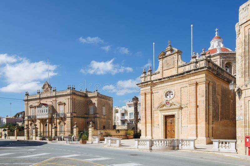 St Paul Kirche im kleinen ländlichen Dorf von Hal Safi, Malta lizenzfreies stockfoto