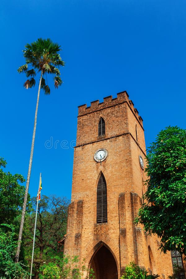 St Paul Kościelna fasada w Kandy, Sri Lanka obrazy royalty free