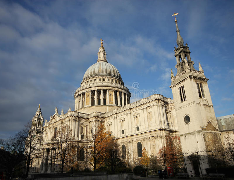 St. Paul in London England. St. Paul Cathedral in London England stock photo