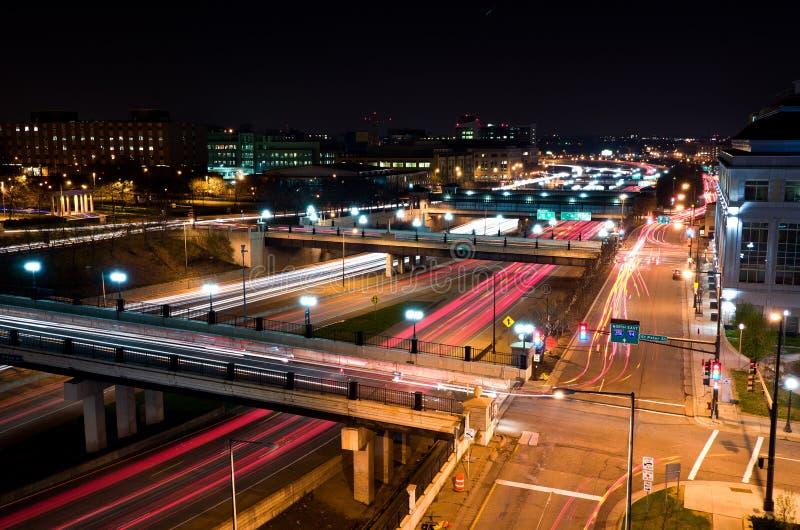 St Paul Minnesota at Night. Beautiful Downtown St Paul Minnesota at Night royalty free stock photo