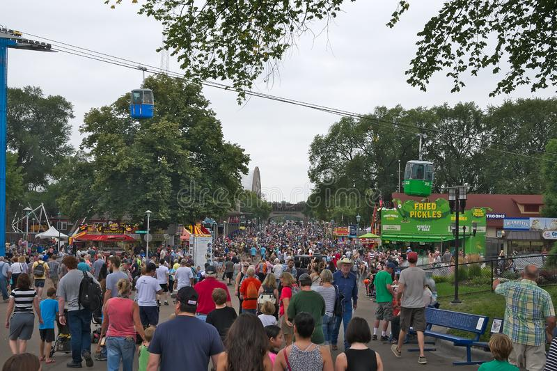 St Paul, MN - August 27, 2018: The Minnesota State fair is the largest gathering in Minnesota stock images