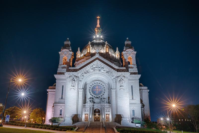 Cathedral of St. Paul in Minnesota royalty free stock images